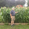 Johnnie Johnson proudly shows off his garden of corn which he planted in early May<br /> <br /> Photographer's Name: Diana Johnson<br /> Photographer's City and State: Anderson, Ind.