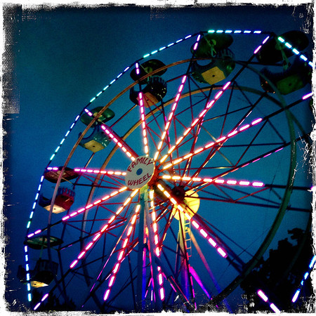The ferris wheel at the Madison County 4H Fair 2013<br /> <br /> Photographer's Name: Kathy Wehrley<br /> Photographer's City and State: Anderson, Ind.