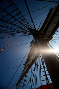 Ropes, rigging, rigging and ropes.