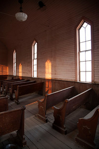 The old Curch in Bodie.