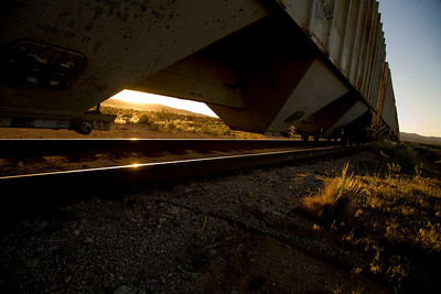 Steel rails - sunrise