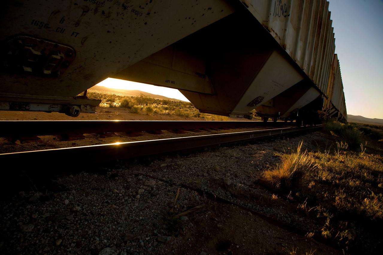Steel rails - sunrise