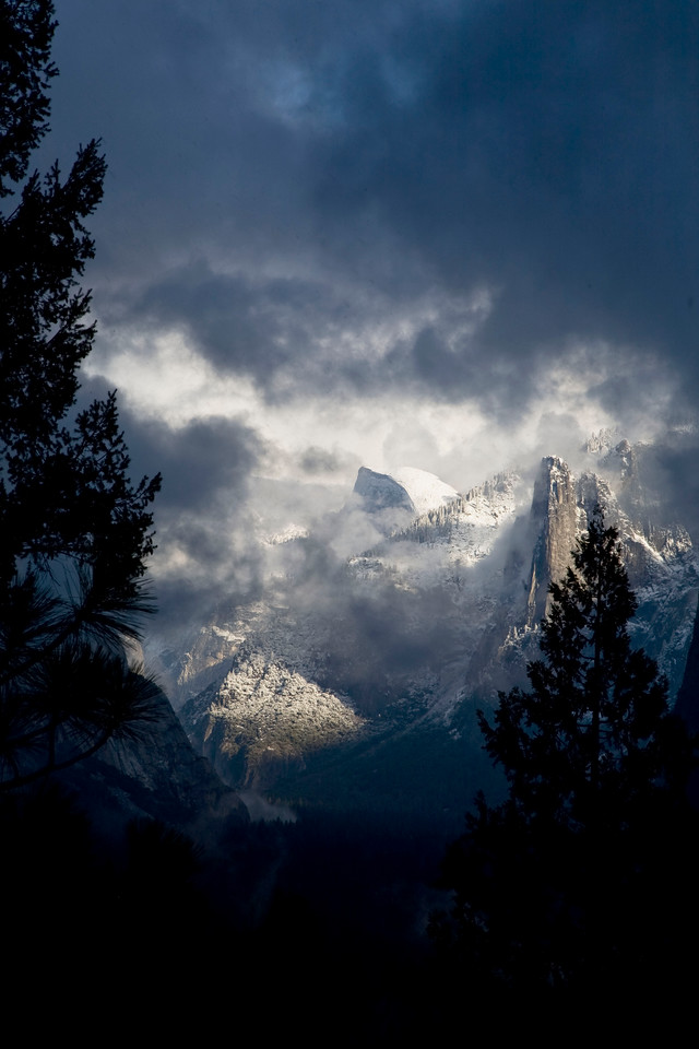 Hole in the storm...Yosemite Valley