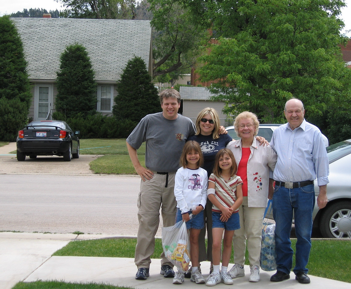 Dropping the twins off with the Grandparents