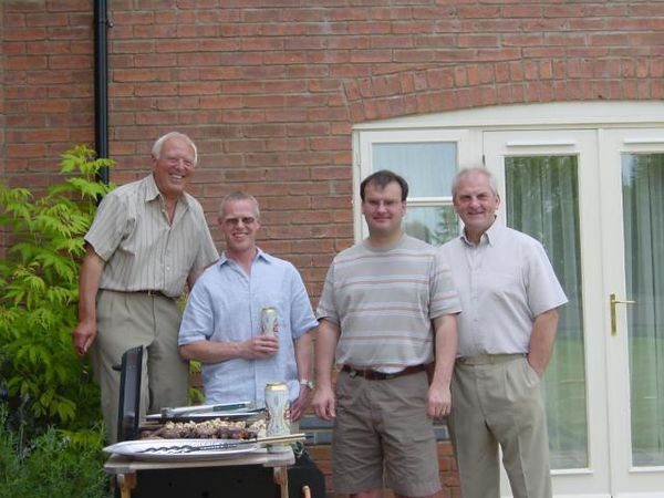 Father's Day 2005. From left, My Dad, Me, My Brother-in-law and his Dad
