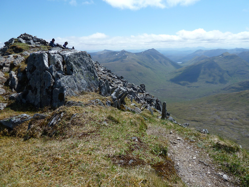 Looking south towards Loch Cluanie from the summit of Sgurr nan Ceathreamnhan on a glorious 2nd June 2012