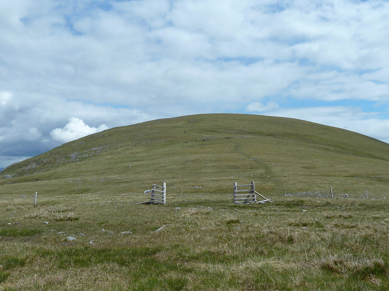The gate on the dip between Beinn a'Chuirn and Beinn Mhanach on Saturday 9th June 2012
