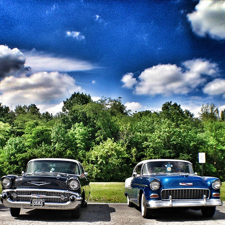 Two 1950s Chevys in Albany Ind.<br /> <br /> Photographer's Name: Jesse Lawson<br /> Photographer's City and State: Anderson, Ind.