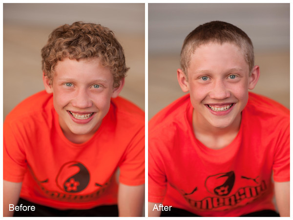 Dawson Ayers, my son, got the summer buzz.<br /> <br /> Photographer's Name: Terry Lynn Ayers<br /> Photographer's City and State: Anderson, IN