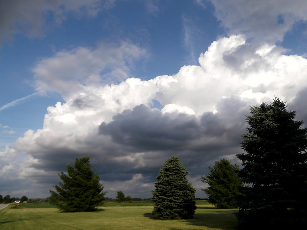 Clouds are almost always photograph-able. No exception here. <br /> <br /> Photographer's Name: Harry Kirchenbauer<br /> Photographer's City and State: Anderson, Ind.