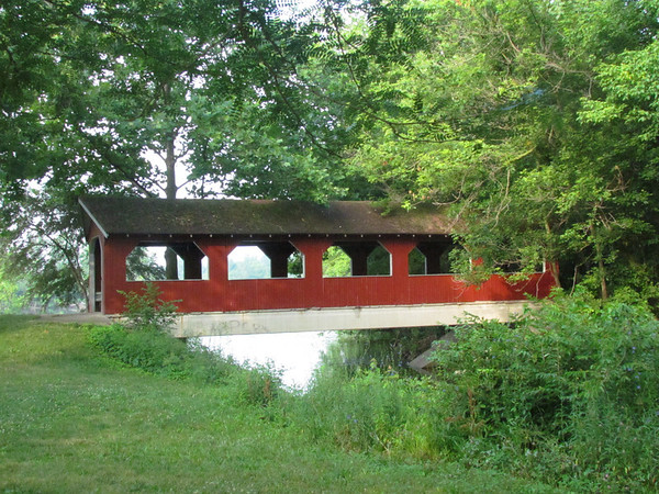 Covered Bridge at Aqua Gardens.<br /> <br /> Photographer's Name: Brian Fox<br /> Photographer's City and State: Anderson, IN