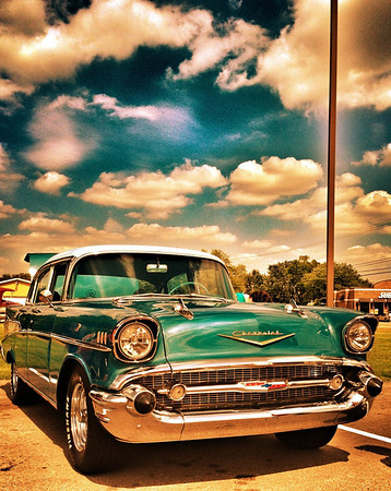 A 1957 Chevy in Albany, Ind.<br /> <br /> Photographer's Name: Jesse Lawson<br /> Photographer's City and State: Anderson, Ind.