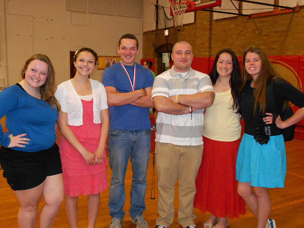 These six Liberty Christian Seniors, out of 46 who graduated on June 1, will be attending the GAP program with Score International, Inc. in Costa Rica next year. From left are Sarah Shaffer, Desiree Johnson, Dallas Smith, Chris Turner, Abigail Miller, and Myra Vance.<br /> <br /> Photographer's Name: Carol Miller<br /> Photographer's City and State: Anderson, Ind.