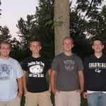 Frankton High School's last four valedictorians,  Jesse Pruitt (2010), Brady Bair (2011), Jacob Pruitt (2012), and Blake Michael (2013).  They have been friends for years.<br /> <br /> Photographer's Name: Ted Pruitt<br /> Photographer's City and State: Anderson, Ind.