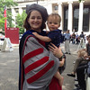 Lauren Skiles Lambie-Hanson (AHS class of 2002) poses with her son, Owen Lambie-Hanson, after her Ph.D. hooding ceremony at Massachusetts Institute of Technology on June 6, 2013.<br /> <br /> Photographer's Name: Cathy Skile<br /> Photographer's City and State: Anderson, Ind.