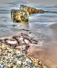 WWII sea defences at Lossiemouth on Monday 27th June