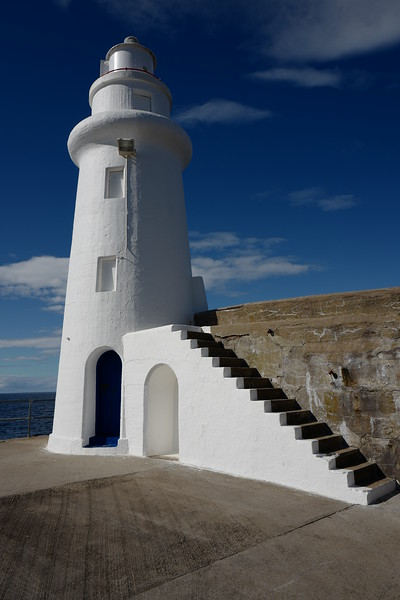 Lighthouse on the end of Macduff Harbour pier