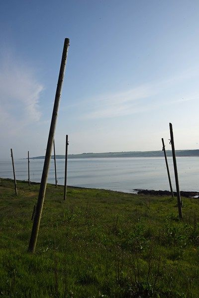 Net drying poles at Port Erroll Harbour - 2nd June