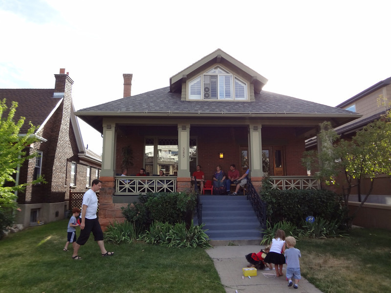 A good shot of the front of Bryan and Sara's new home