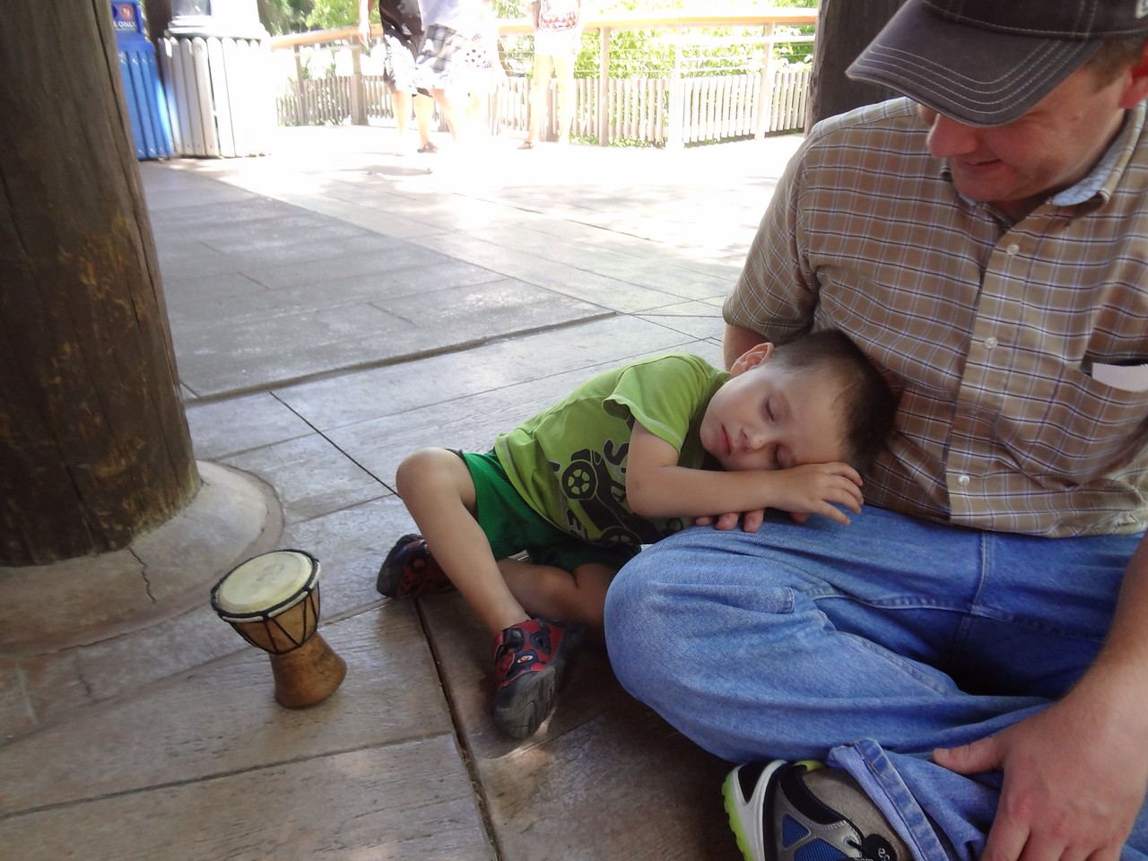 Walking around at the zoo made Paul tired