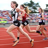 6-1-13<br /> Girls state track and field<br /> Bethany Neeley leads in the 1600 meter run.<br /> KT photo | Kelly Lafferty