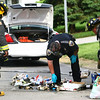5-28-13<br /> Kokomo Police arrest Zachary James Dalton after police were called to 1829 W. Madison on a smell of ammonia. They found smoke coming from a trash tote. KFD was called in to extinguish the fire after police dumped the contents into the street away from the house. Cookers and other meth lab remnants were found in the trash can. <br /> KT photo   Tim Bath
