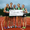 6-1-13<br /> Girls state track and field<br /> Avery Ewing, Sarah Wagner, Bethany Neeley, Jessie Sprinkles, and Brittany Neeley after Bethany won the mental attitude award.<br /> KT photo | Kelly Lafferty