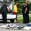 5-28-13<br /> Kokomo Police arrest Zachary James Dalton after police were called to 1829 W. Madison on a smell of ammonia. They found smoke coming from a trash tote. KFD was called in to extinguish the fire after police dumped the contents into the street away from the house. Cookers and other meth lab remnants were found in the trash can. <br /> KT photo | Tim Bath