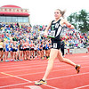 6-1-13<br /> Girls state track and field<br /> Bethany Neeley smiles after she finishes the last leg of the 3200 meter relay.<br /> KT photo | Kelly Lafferty