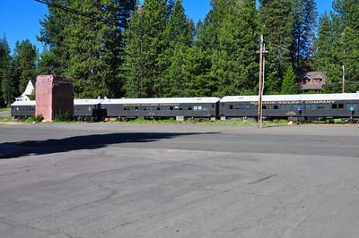 Parked passagener cars. McCloud, CA.