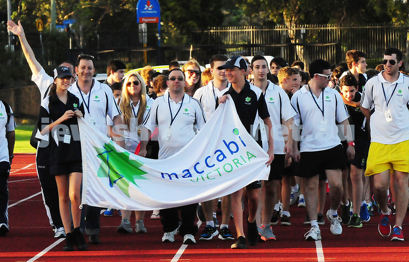jnr carnival 2013. Vic team at the opening ceremony. Sydney. photo: Henry benjamin.