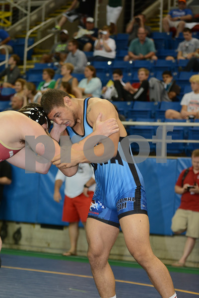 2014 USAW Junior Freestyle Nationals<br /> 220 - Quarterfinal - Marcus Harrington (Iowa) over Fletcher Miller (Indiana) (TF 11-1)