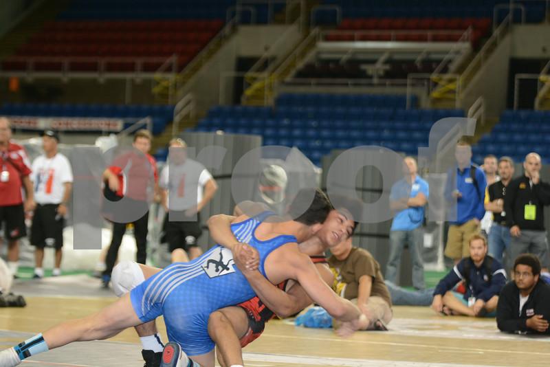 2014 USAW Junior Freestyle Nationals<br /> 145 - Semifinal - Vincenzo Joseph (Pennsylvania) over Fredy Stroker (Iowa) (Dec  8-0)