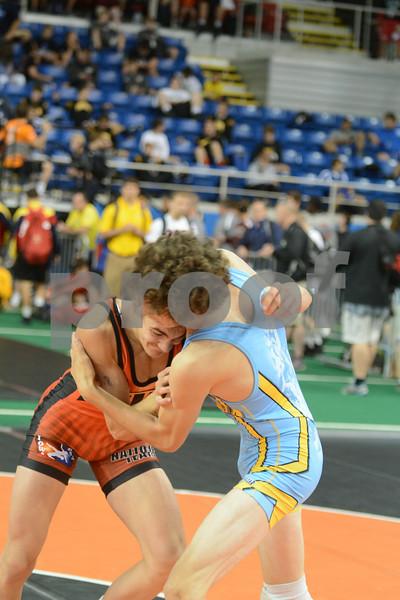 2014 Junior Greco Nationals <br /> 132 - Champ. Round 2 - Keegan Shaw (Iowa) over Jarrett Degen (Montana) (Dec 10-8)