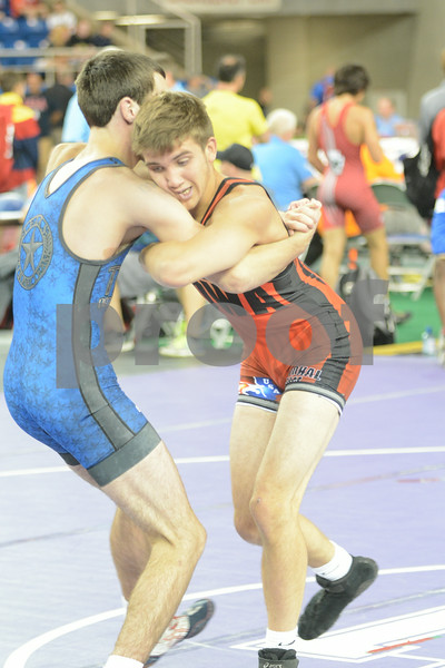 2014 Junior Greco Nationals <br /> 132 - Champ. Round 2 - Austin Ellis (Texas) over Jacob Watters (Iowa) (Fall 1:47)
