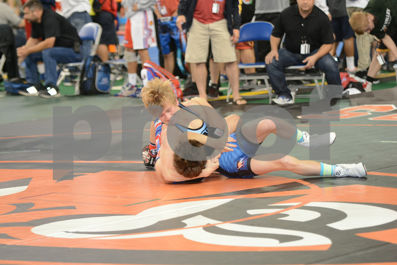 2014 USAW Junior Greco Nationals<br /> 113 - Quarterfinal - Brenden Baker (Iowa) over Justin Becci (Tennessee) (TF TF 13-0)