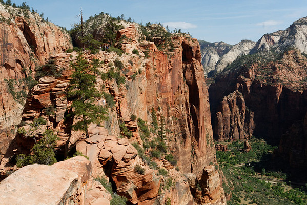 Taking a look back - Angels Landing trail