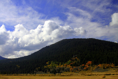 searching for fall colors, highway 88. found wonderful clouds as well