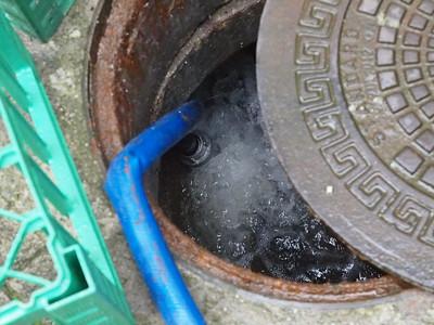 Der pumpes 30000 liter i timen. Foto Martin Bager