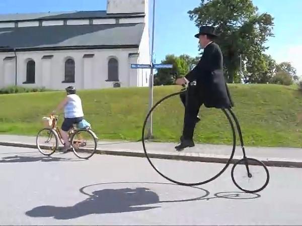 Cykelhistoria i rörelse