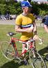 Jättefin racer från 1947, det mesta är original såsom cyklisten