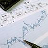 Stock market chart for investor analysis.