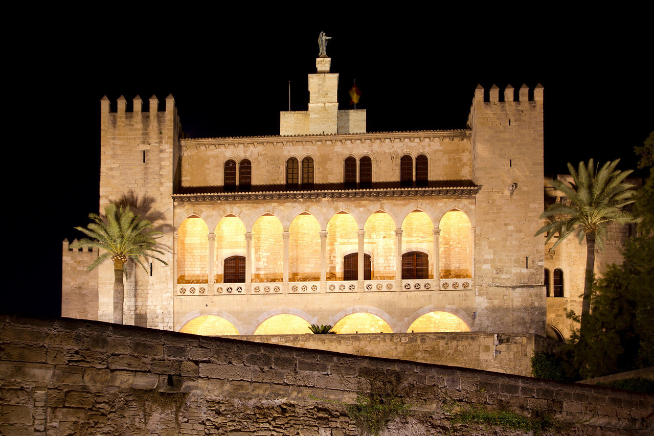 La Almudaina Palacio Real Palace in Palma de Mallorca