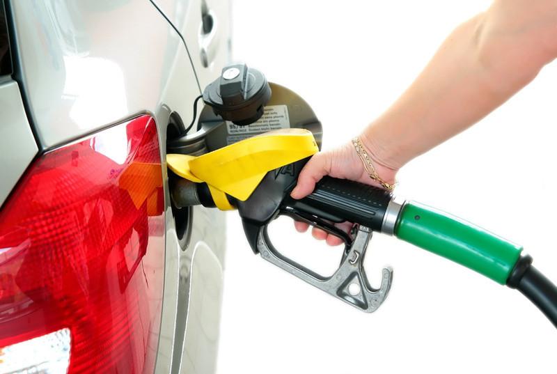Closeup refuel gasoline