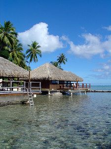 This is what a vacation is all about! Over the water bungalows in the South Pacific.