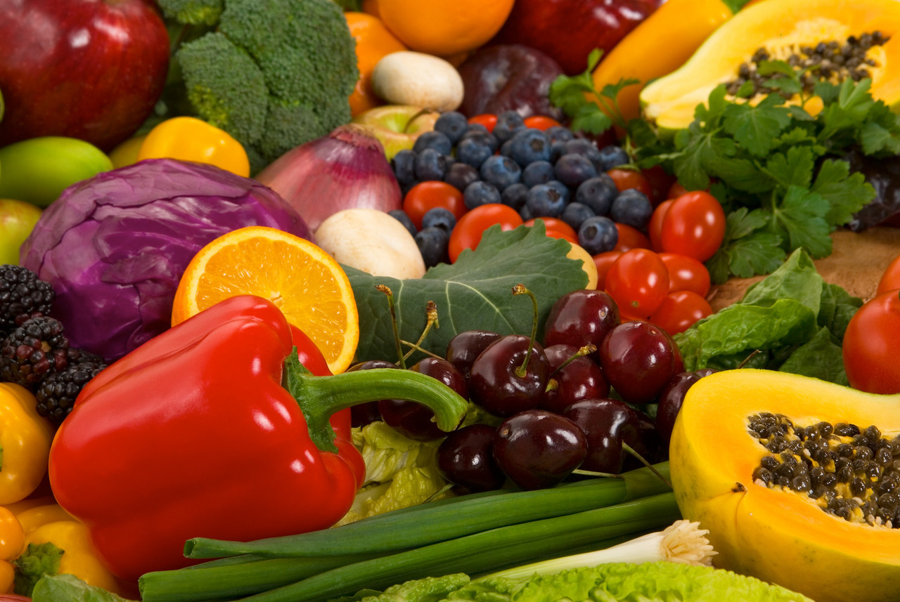 Organic vegatables and fruits
