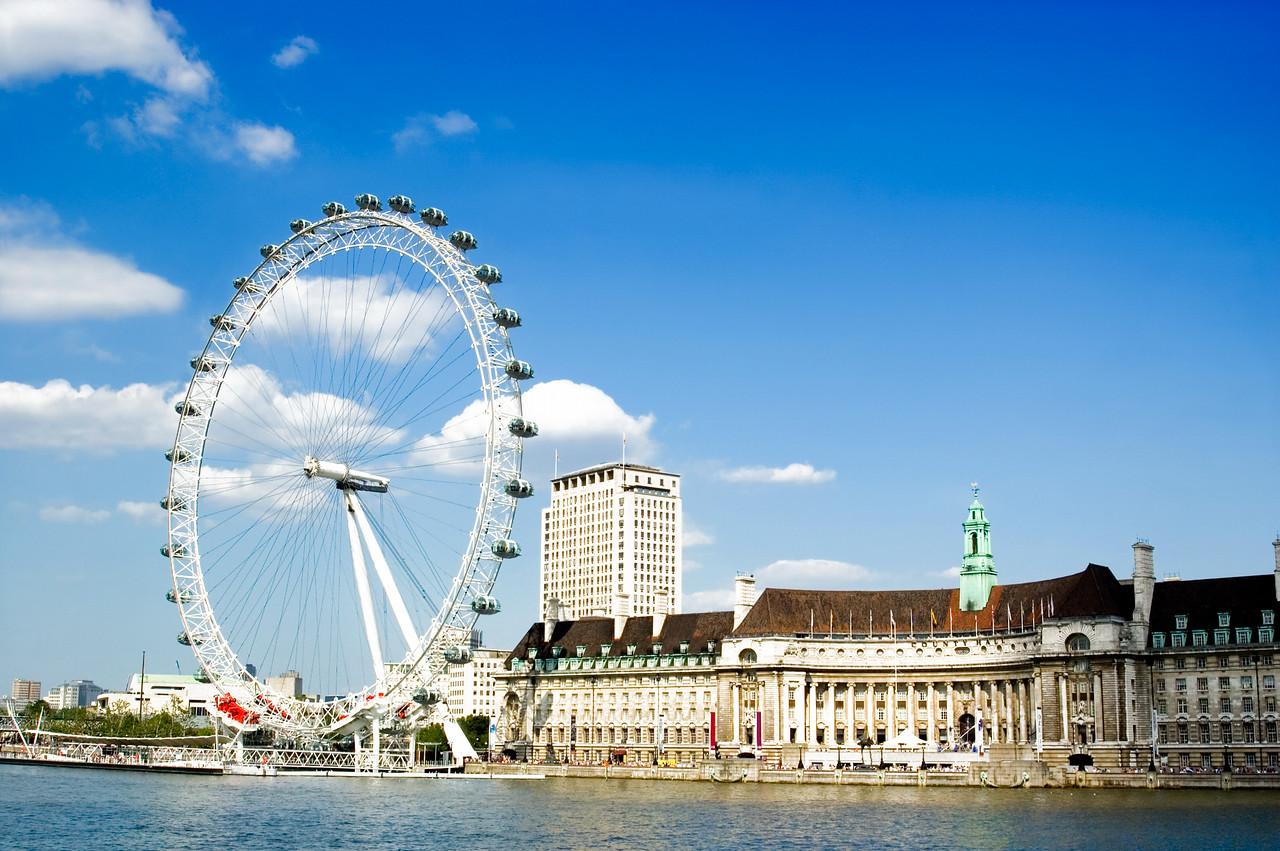 London Eye and River Thames (UK)