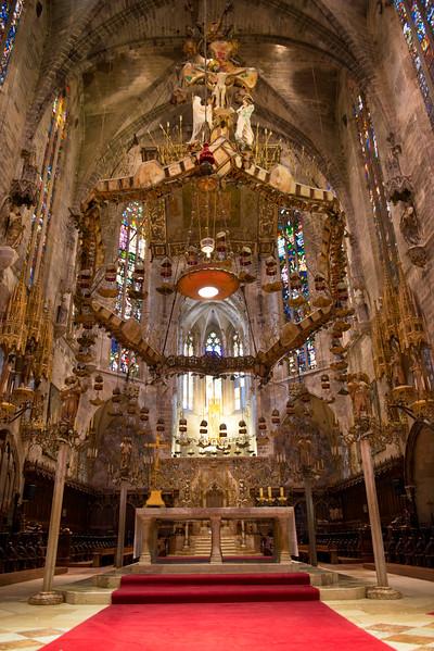 Interior of Cathedral of Santa Maria of Palma (La Seu)