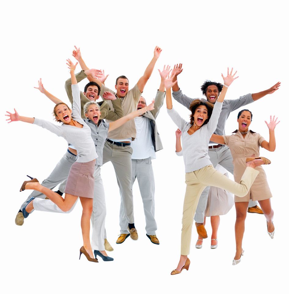Business group-jumping with success