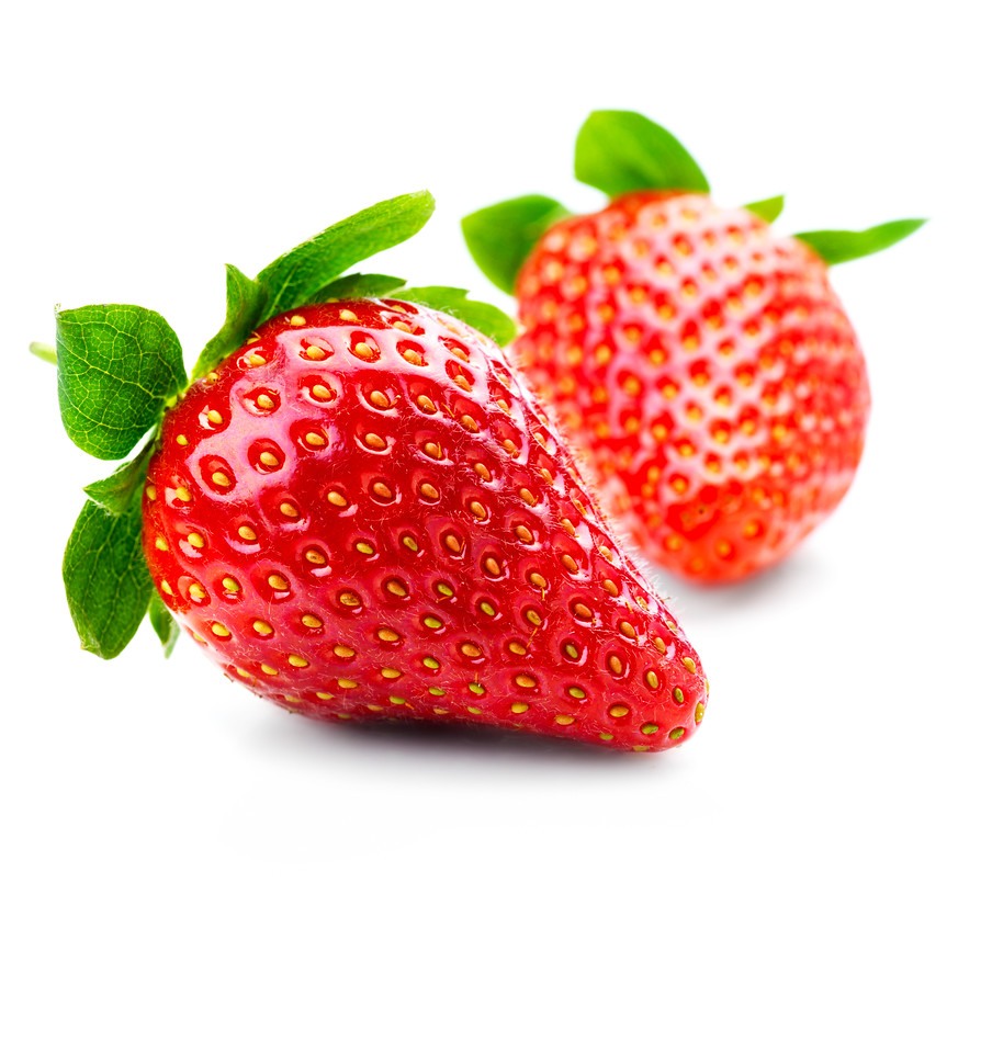 """Isolated fruits - Strawberries on white background. This picture is part of the series """"perfecting macros"""""""